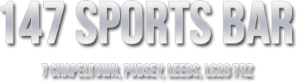 147 Sports Bar Pudsey Leeds